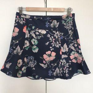 Zara Woman Scuba Floral Skirt Size M